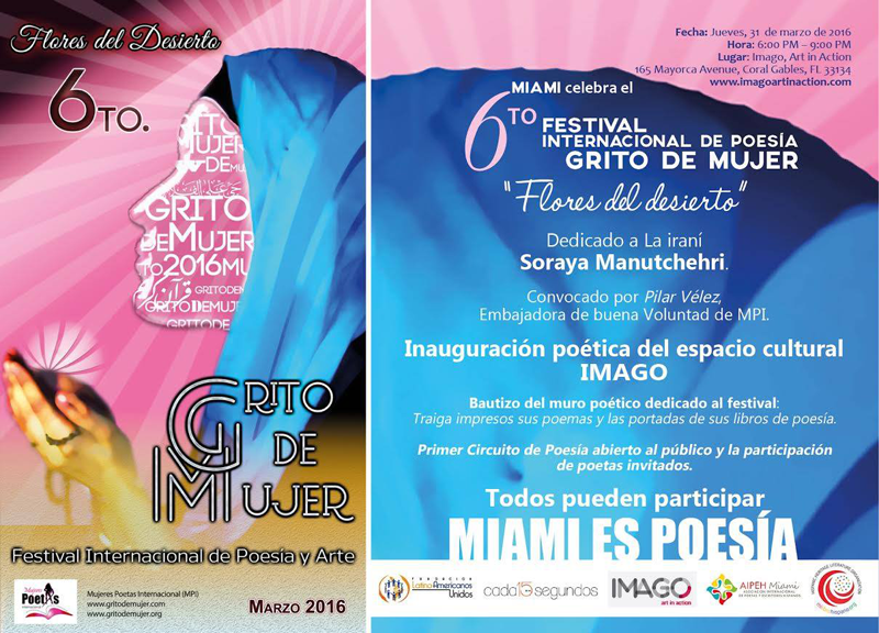 6to Festival Internacional de Poesía Grito de Mujer